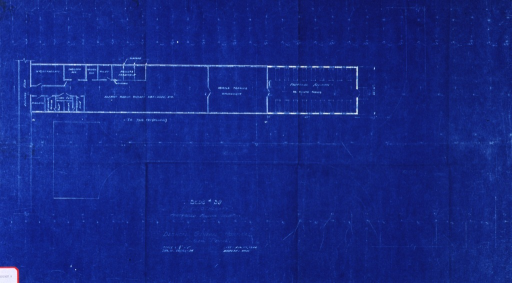 <p>Blueprint of first alteration.</p>