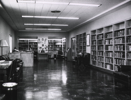 <p>Interior of recreation library.</p>