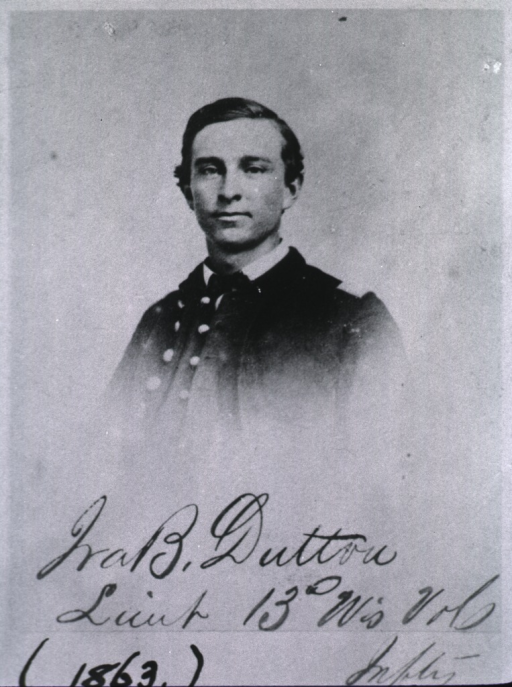 <p>Head and shoulders, full face, wearing uniform (lieut., 13th Wisconsin Volunteer Infantry, Union Army, Civil War).</p>