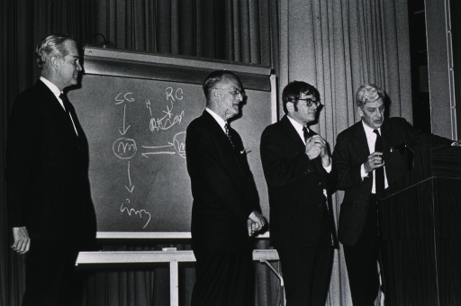 <p>Dr. Robert Marston, Dr. Ed Rall, and others.</p>