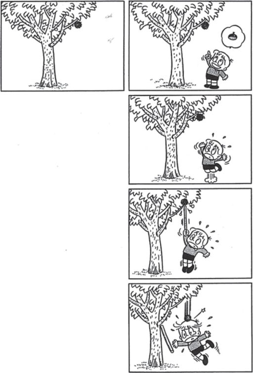 The picture story (4-frame cartoon) \'a chestnut tree | Open-i
