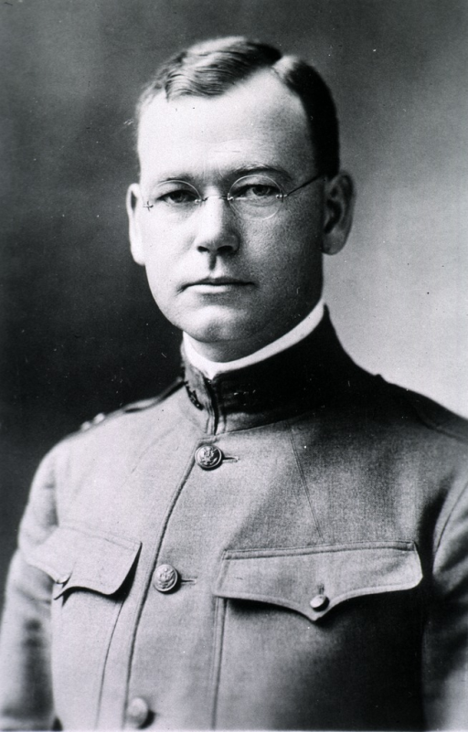 <p>Head and shoulders, full face, wearing uniform (Captain).</p>