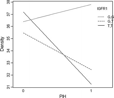 Interaction of PIH and IGFR1