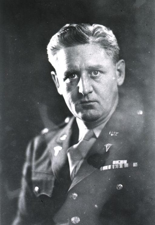 <p>Head and shoulders, full face, wearing uniform.  Colonel.</p>