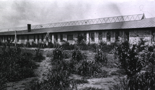 <p>A view of one of the buildings at Military Hospital No. 1.</p>