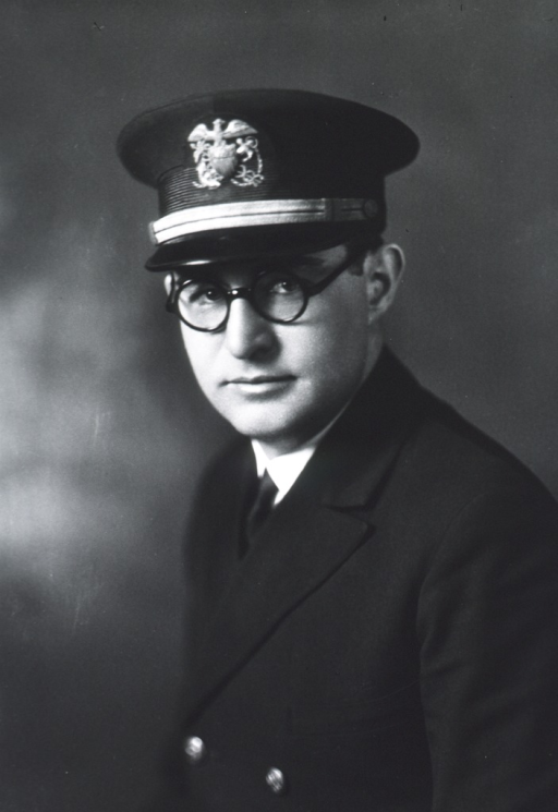 <p>Head and shoulders, full face, glasses, USPHS uniform and cap.</p>
