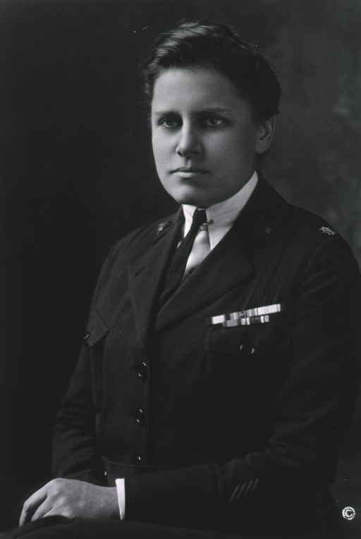 <p>Seated, half length, left pose.  In uniform of Supt. of Army Nurse Corps.</p>