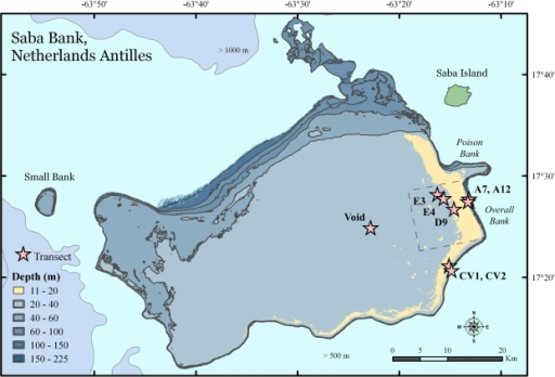 A Map Of Saba Bank In The Netherlands AntillesSaba Ba Openi - Netherlands antilles map