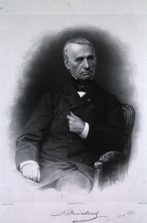 <p>Three-quarter length, full face, seated in chair, one hand on lap the other on chest.</p>