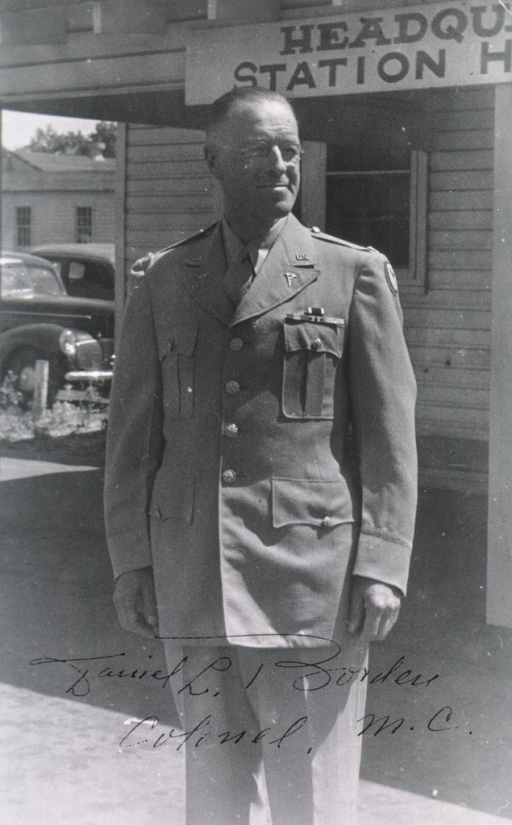 <p>Standing, three-quarter length, right pose, wearing uniform of Col. Medical Corps.</p>