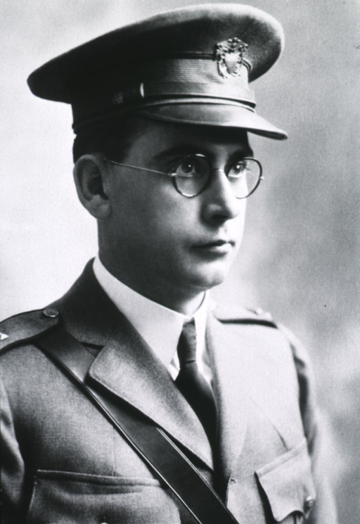 <p>Head and shoulders, facing right, U.S. Army uniform and cap.</p>