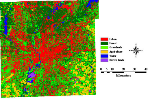 Land Use And Land Cover Map Of Indianapolis Indiana U Openi - Indiana on map of usa