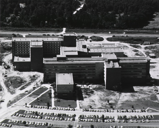 <p>Exterior view: aerial view with the medical sciences building in the foreground.</p>