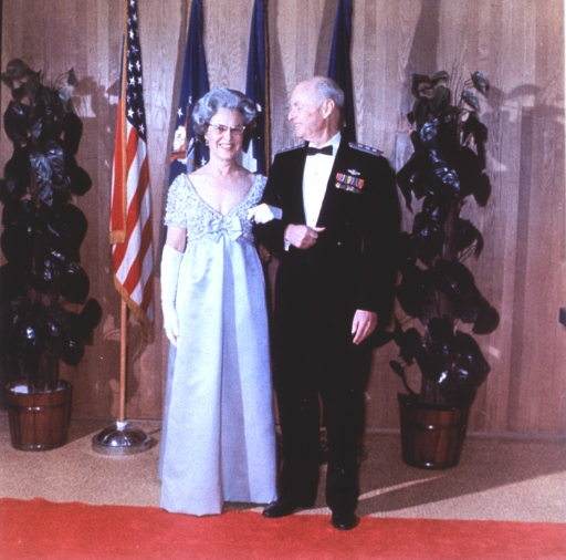 <p>Full length, standing with Mrs. Bohannon.</p>