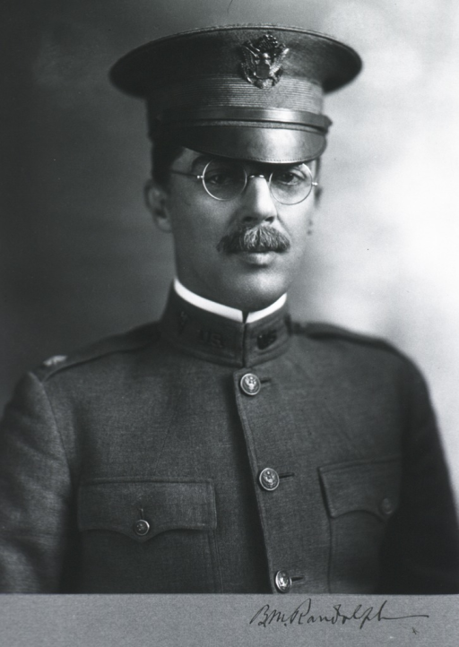 <p>Head and shoulders, front, in uniform, M.C.</p>