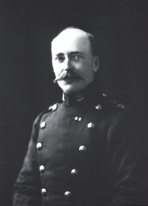 <p>Head and shoulders, left pose, full face; wearing uniform.</p>