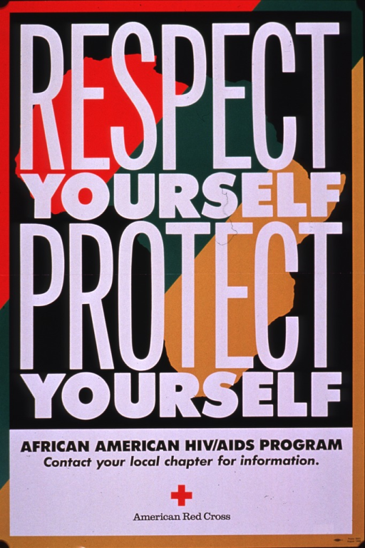 <p>Multicolor poster with black and white lettering.  Title dominates poster.  An outline of Africa appears in the background.  Caption and publisher information below title.</p>