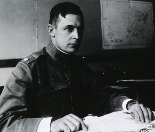 <p>Half-length, seated at desk, right pose; wearing uniform (Colonel).</p>