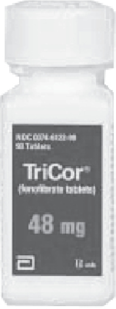 Packaging of Tricor®.