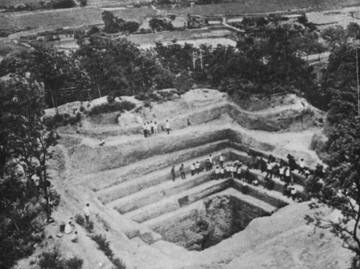 Excavation site of an ancient female corpse with schistosomiasis in Changsha City, Hunan Province, in 1971 [8].
