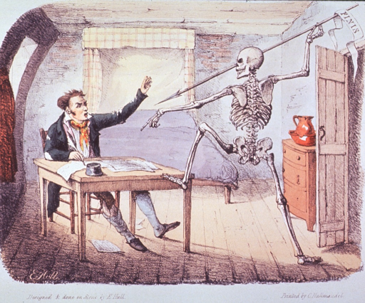 <p>Author protests the intrusion of Death before writing is complete.</p>