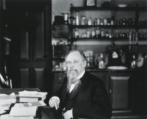 <p>Professor Pekelharing in his laboratory in Utrecht, Holland.</p>