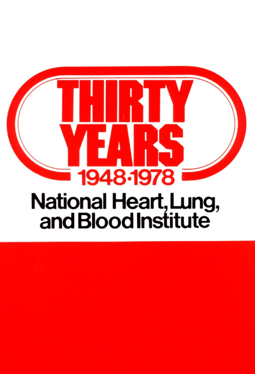 <p>The poster is in red and white, with some of the print in black.  The top two-thirds of the poster has the title in bold red letters with a red oval around it.  The Institute's name appears under the title in black letters.  The remaining third of the poster is solid red.</p>