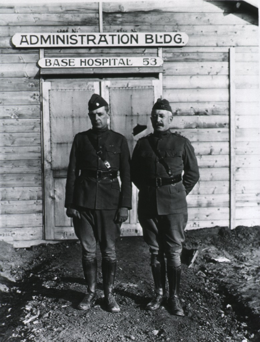 <p>Full length, standing with Captain Sherman; full face; wearing uniforms.</p>