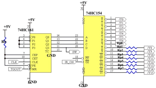 Binary counter and decoder circuit.