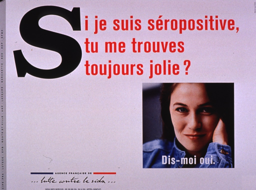 <p>Predominantly white poster with multicolor lettering.  Title at top of poster.  Visual image is a color photo reproduction featuring a young woman's face.  Caption superimposed on photo encourages saying yes to the question posed in the title.  Publisher information in lower left corner.</p>