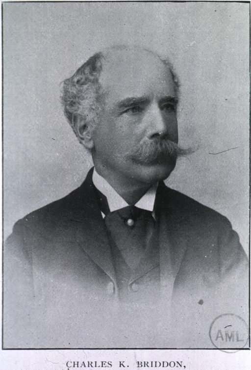 <p>Head and shoulders, facing left, long mustache.</p>