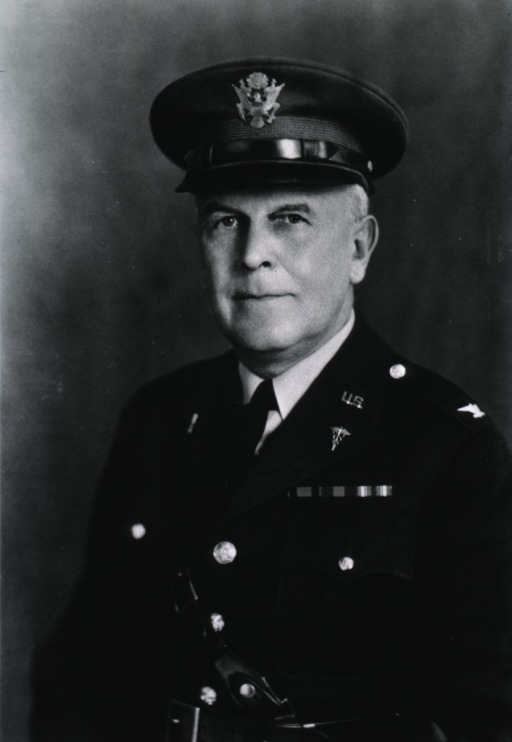 <p>Half-length, left pose, full face; wearing uniform and cap (Colonel).</p>