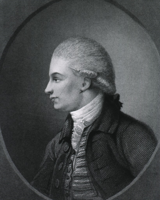 <p>Head and shoulders, left profile as a young man; in oval.</p>