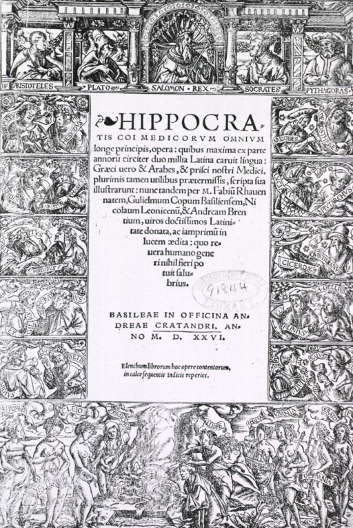 <p>Title page with illus. of the muses and various historical figures such as Homer, Ovid, Plato, Aristoteles, etc.</p>