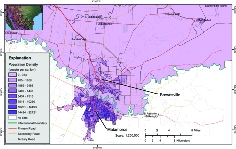 Map Of Brownsville Texas And Matamoros Mexico Conti Openi - Brownsville on us map