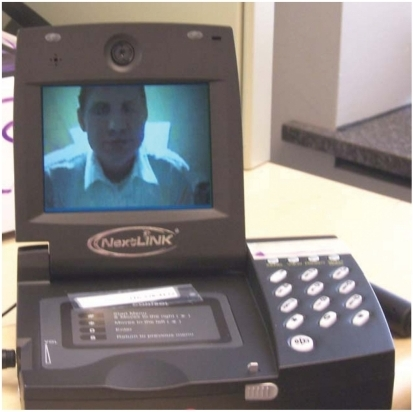 Videophone used in the study.