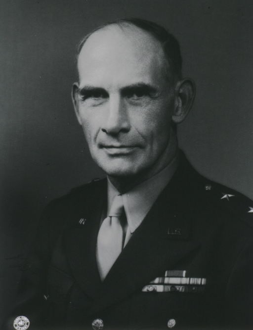 <p>Head and shoulders, full face, wearing uniform (Major General).</p>