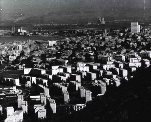 <p>Elevated view of the city of Haifa from a nearby hillside.</p>