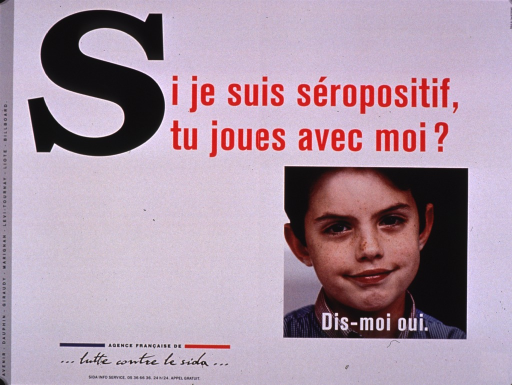<p>Predominantly white poster with multicolor lettering.  Title at top of poster.  Visual image is a color photo reproduction featuring a boy's face.  Caption superimposed on photo encourages saying yes to the question posed in the title.  Publisher information in lower left corner.</p>