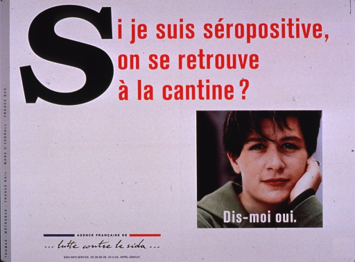 <p>Predominantly white poster with multicolor lettering.  Title at top of poster.  Visual image is a color photo reproduction featuring a woman's face.  Caption superimposed on photo encourages saying yes to the question posed in the title.  Publisher information in lower left corner.</p>