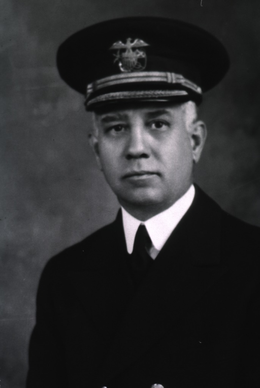 <p>Head and shoulders, full face, USPHS uniform and cap.</p>