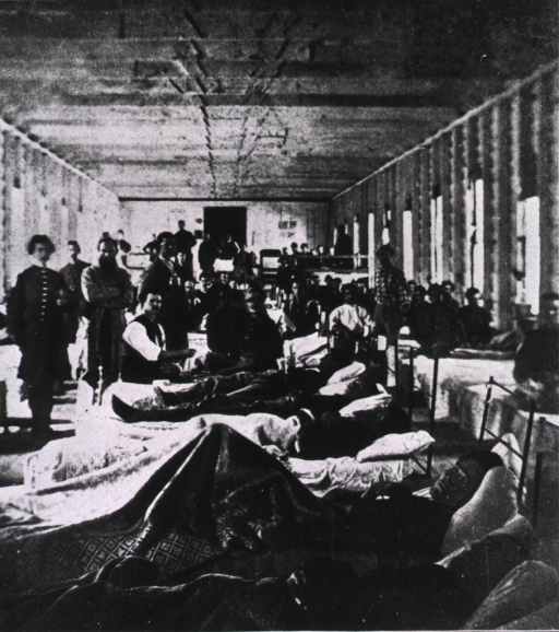 <p>Hospital ward interior - in a convalescent camp at Alexandria.</p>