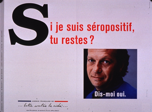 <p>Predominantly white poster with multicolor lettering.  Title at top of poster.  Visual image is a color photo reproduction featuring a man's face.  Caption superimposed on photo encourages saying yes to the question posed in the title.  Publisher information in lower left corner.</p>