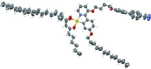 The molecular structure of the title complex, with 50% probability displacement ellipsoids.