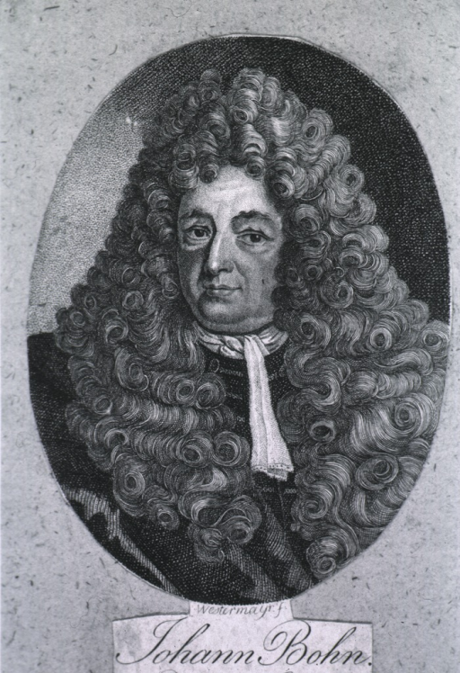 <p>Small print, face to left, wearing wig.</p>