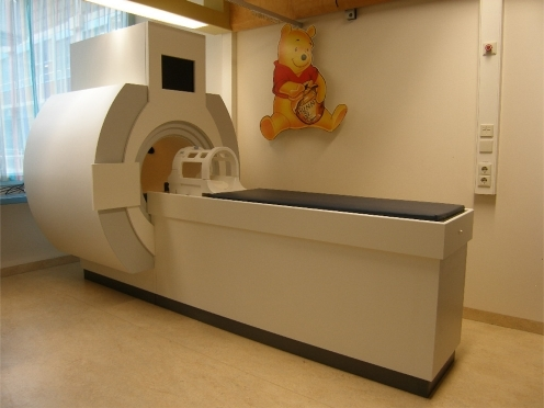Mock scanner unit at the pediatric outpatient department