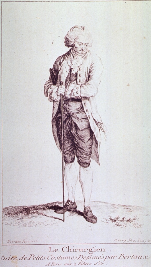 <p>A surgeon of the time, in typical costume.  Full length, standing.</p>