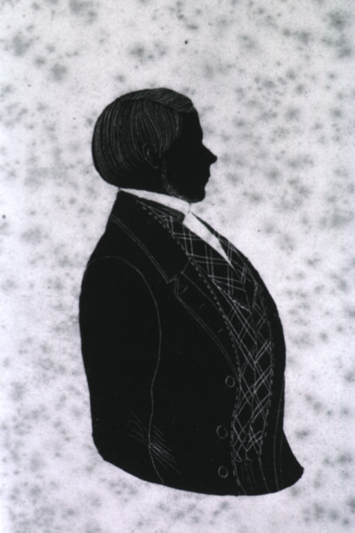 <p>Half-length, right pose; silhouette.</p>