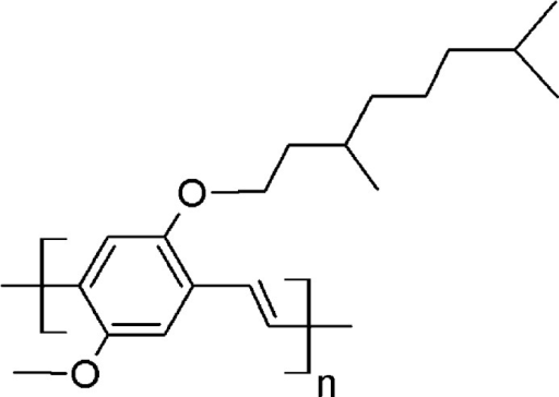Chemical structure of MDMO-PPV.