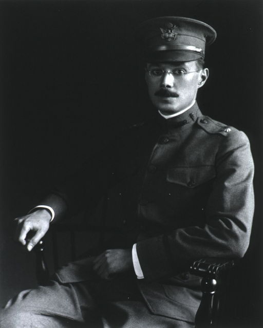 <p>Full face, seated, wearing WW I dress uniform (Major).</p>